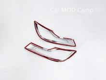For Honda CRV CR-V 2017 2018 ABS Chrome Rear Fog Light Fog Lamp Cover Trim 2pcs Car Styling accessories!
