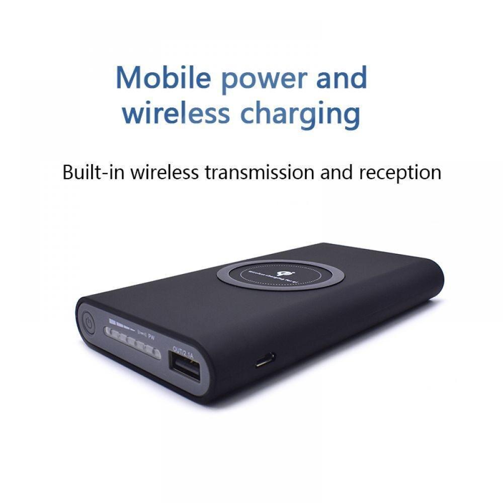 Sans fil Chargeur batterie externe 10000 mah Portable Double USB avec Affichage Numérique Externe chargeur de batterie Portable pour iphone X 8