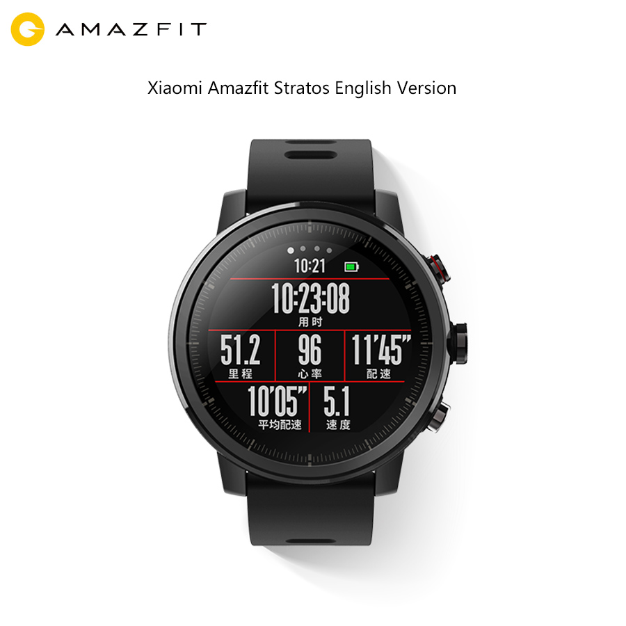 Xiaomi Huami Amazfit 2 Amazfit Stratos Pace 2 Smart Watch with GPS Xiaomi Watches PPG Heart Rate Monitor 5ATM Water 2.5D Screen huami amazfit heart rate smartband