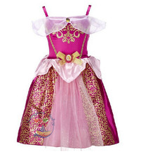 Kids girls Cosplay Costume Sleeping Princess Party Performances Dress Girl Movie cosplay costume cinderela Princess fancy