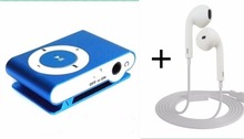 Portable Metal Clip MP3 Player No Memory Card Music Player With Best Earphone