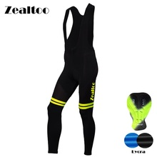 Zealtoo Men Spring Autumn Outdoor Breathable Anti-sweat Cycling Bib Pants Silica GEL Pad Road MTB Bicycle Bike Ciclismo