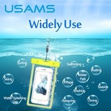USAMS водонепроницаемый телефон мешок прозрачный touchable сумка пляжная сухой универсальный мешок телефона для galaxy s6 s5 iphone 6/6 s plus