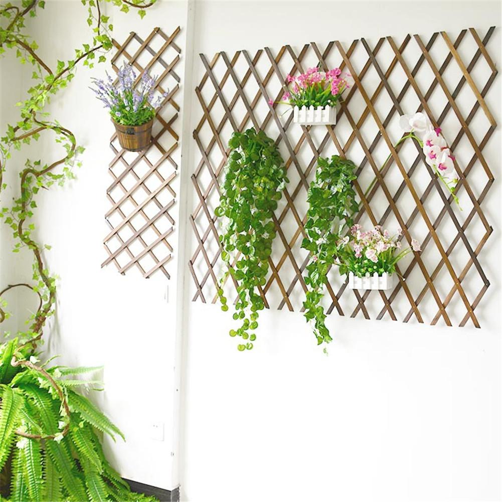 Extendable Instant Fence Outdoor Wooden Fence Garden Balcony Vine Frame Wedding Props Decoration