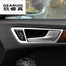 Автомобильные аксессуары для Audi Q5 2009-2017, внутренняя дверная ручка, крышка чаши, декоративная отделка, наклейка из нержавеющей стали, Стайлин...