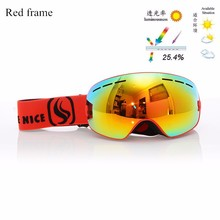 New genuine Brand Snowboard Ski Goggles 2 Double Layer Large Spectacal Anti Fog motocross esqui men women skiing Eyewear nce33