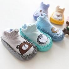 Infant Baby Socks With Rubber Soles Newborn Girls Boys Autumn Winter Children Floor Socks Shoes Anti Slip Soft Sole Sock все цены