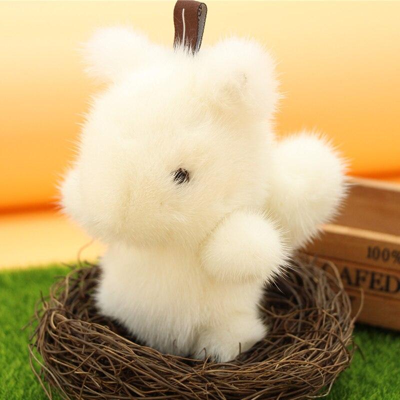 2018 милая маленькая белка из меха норки, Сумка с орнаментом для кролика, аксессуары для автомобиля, установленная Подвеска из мертвого кроли... - 2