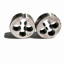 Free shipping of 2PCS Alloy steel made UNC-1/4-20 Die Threading Tools Lathe Model Engineer Thread Maker of 1pc alloy steel made un 1 9 16 18 die threading tools lathe model engineer thread maker