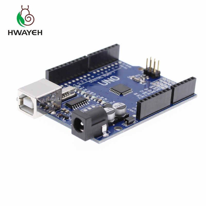 Alta qualidade um conjunto uno r3 (ch340g) mega328p para arduino uno r3 + cabo usb ATMEGA328P-AU placa de desenvolvimento