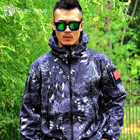 High Quality Hot Shark Leather Skin Shell TAD Outdoor Military Tactics CS Real Combat Jacket Waterproof
