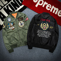 2016 Spring and Autumn New Fashion Air Force Flight Jacket Embroidery Badges Men's Leisure Jacket