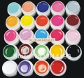 BEMLP 24 Color Solid Pure UV Builder Gel Set Nail Art False Full French Tips Salon Set