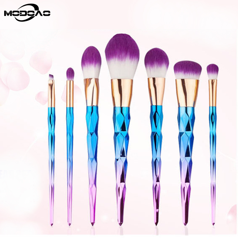 1/7Pcs Diamond Makeup Brushes Set Foundation Blending Powder Eyeshadow Contour Concealer Blush Cosmetic Beauty Make Up Tools newest alice in wonderland makeup brushes set foundation blending powder eyeshadow contour concealer blush cosmetic makeup tool