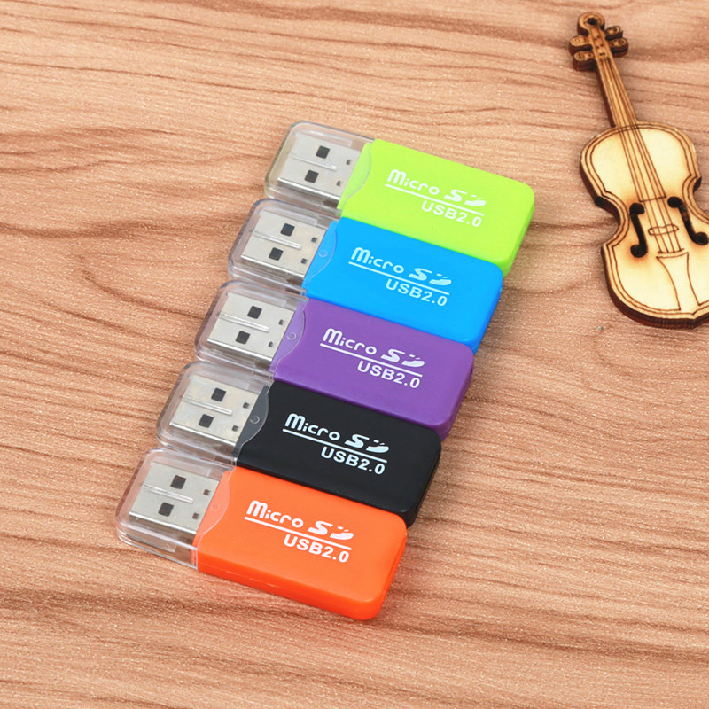 FFFAS High Quality Mini USB 2.0 Card Reader For Micro SD Card TF Card Adapter Plug And Play Colourful Choose From For PC MP3 MP4