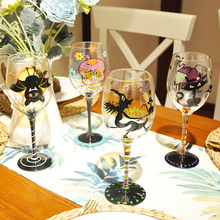 Creative painted crystal glass wine goblet champagne bar hotel party wedding drinking utensils
