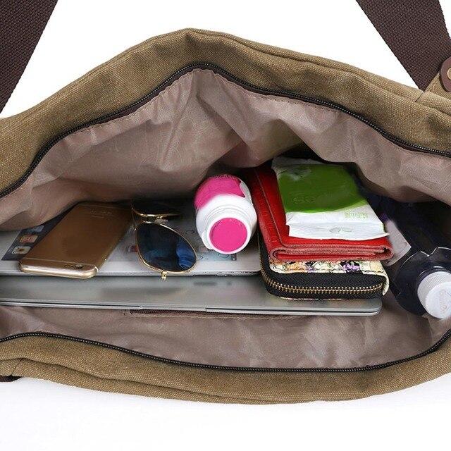 New Style Vintage Canvas Large Men Women Handbag Women Messenger Bags Military Shoulder Crossbody Bags Unisex