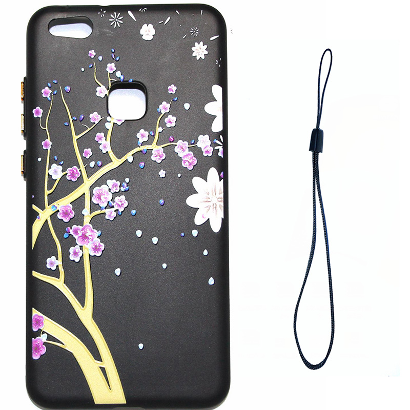 3D Relief flower silicone huawei P10 lite (7)