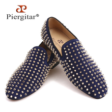 Buy black and gold spiked loafers and get free shipping on AliExpress.com d89faac3e332