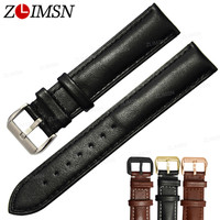 18mm 26mm NEW Top Grade 100 Leather Black With Black Stitched Soft Smooth Watch Bands Strap