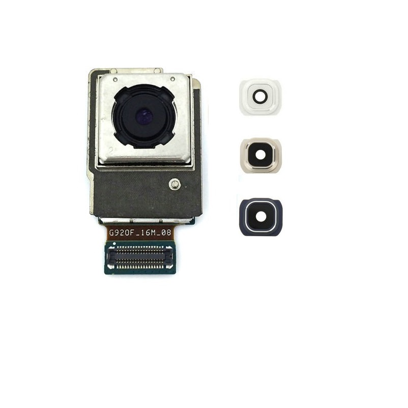 For Samsung Galaxy S6 SM-G920F Back Rear Camera Module With Camera Lens Blue White Gold Color