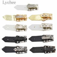 Lychee 5pcs Alloy Coat Invisible Buttons Vintage Coat Buckles DIY Sewing Accessories Supplies for Mink Coats