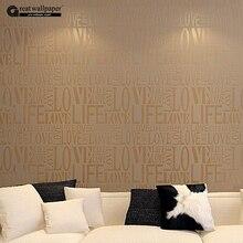 Marrón/Gris/Rosa/Beige/Blanco Rebaño Palabras Letras de Textura Relieve wallpaper rollo de papel de pared de escritorio