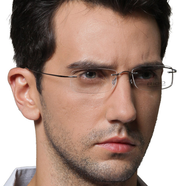325a8e2399e0 FREE SHIPPING Rigo rimless eyeglasses frame ultra-light glasses myopia Men  rimless glasses b titanium lovers design glasses