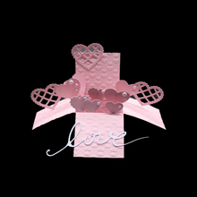 3D heart box metal dies stencil for scrapbooking albulm photo decorative valentine days cutting template tool