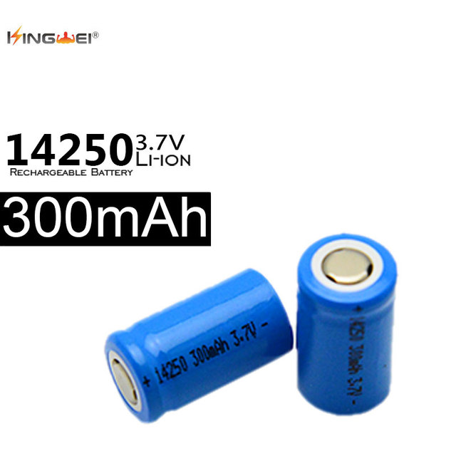 kingwei 14250 4Pcs/Lot 3.7V 300mAh Li-ion Rechargeable Battery High safety industrial used