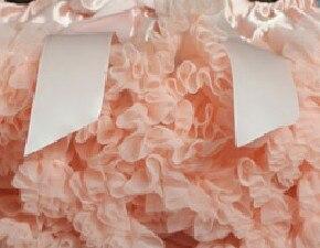 Пышная юбка для малышей Мягкая шифоновая Пышная юбка-пачка для малышей Юбка-пачка для маленьких девочек детская одежда юбка-пачка для новорожденных - Цвет: peach