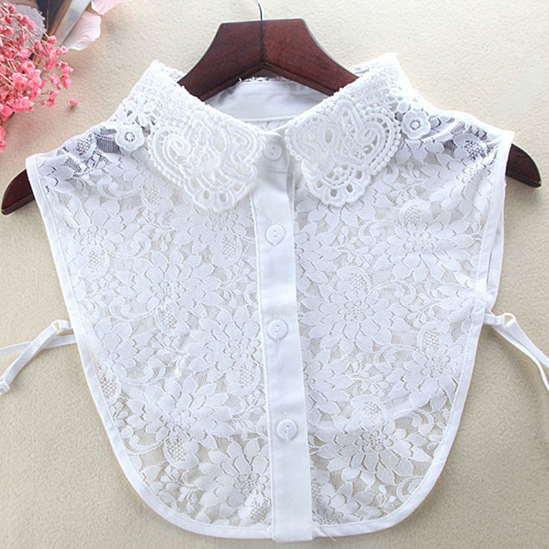 Women Detachable Hollow Lace Lapel Fake Collar False Blouse Clothing Accessories H9