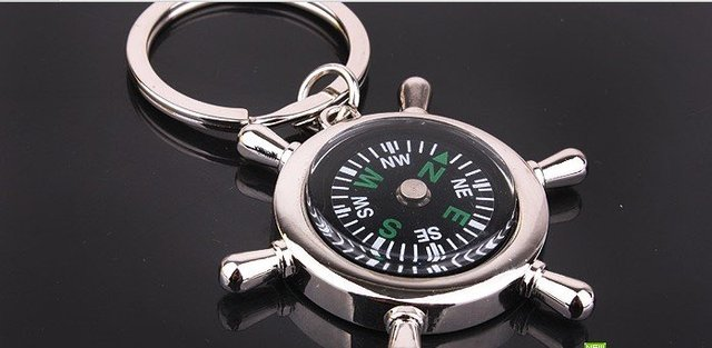 free shipping wholesale 10pcs/lot lovely fashion gift compass keychains,keychain best for lover boy friend MTKR-0003