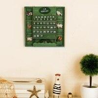 Original Calendar Decoration Vintage European Style Wooden Calendar for Living Room Bedroom Wall Desk Decorations