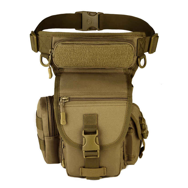 Men's Sport Waist Pack Leg Bag Outdoor Military Tactical Backpack Army Molle Waterproof Bags For Hunting Camping Hiking Fishing 1000d nylon molle tactical hunting bags outdoor sport single shoulder bag men outdoor sport camping hiking hunting waist bags