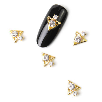 10 pieces diy 3D Moon gemstone rhinestones for Nail Art decorations Design charms alloy manicure jewelry accessories