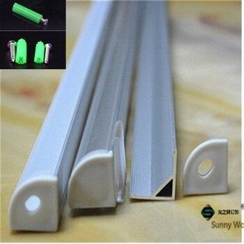 5-30 шт/партия, 40 дюймов 1 м светодиодный алюминиевый профиль для 10 мм печатной платы светодиодный Угловой канал для 5050 полосы led бар светового ...