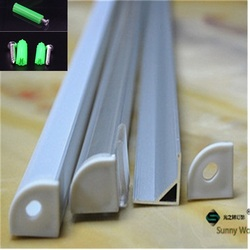 5-30 pz/lotto, 40 pollici 1 m led in alluminio profilo di 10mm bordo del PWB led angolo di canale per 5050 striscia di led bar alloggiamento della lampada