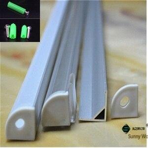 Image 1 - 5 30pcs/lot ,40inch 1m  led aluminium profile for 10mm PCB board led corner channel for 5050 strip led bar light housing