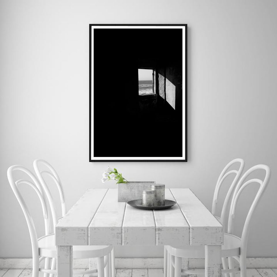 Us 7 77 black and white smoking character girl posters nordic figure painting focal wall art pictures for living room modern home decor in painting