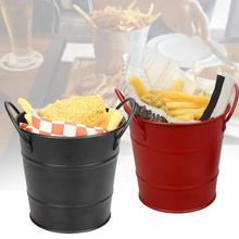 Инновационный мини-ведро для черного льда, бочонок для красного картофеля фри, корзина для картофеля фри, ведро для картофеля фри, прочный и прочный