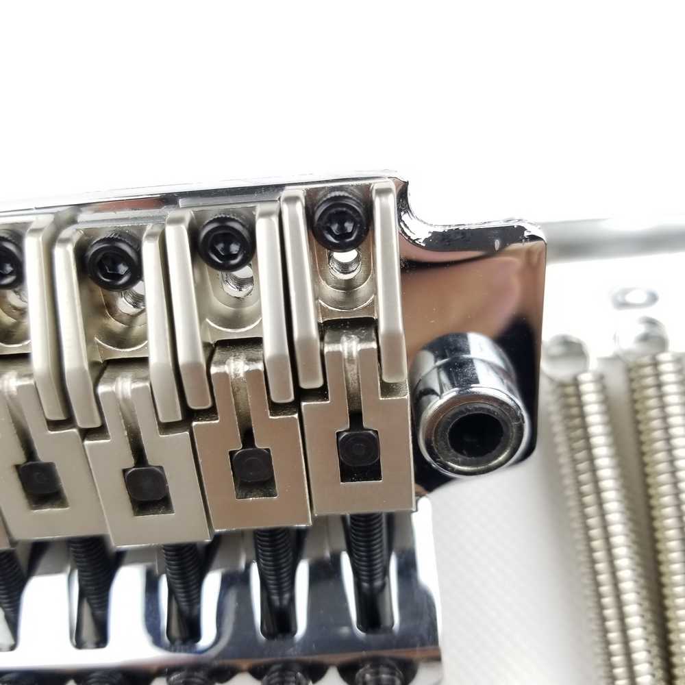 Wilkinson 6-String Electric Guitar Double Locking Tremolo System Bridge Chrome Silver WODL1