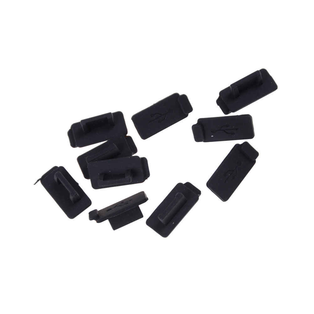 Trwałe PC Laptop USB pokrywa korek miękkie Dust Cap USB 2.0 3.0 interfejs zapobiec rdzy pyłu wtyczka czarny 10 sztuk/partia gumy