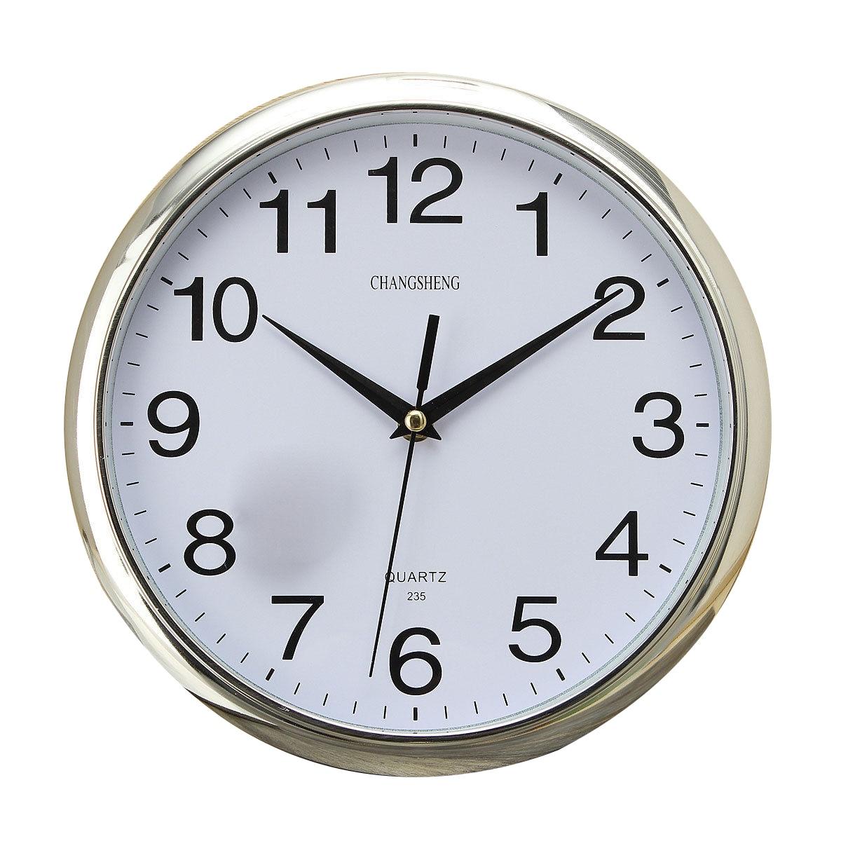 Large Vintage Round Modern Home Bedroom Retro Time Kitchen Wall Clock Quartz Sliver