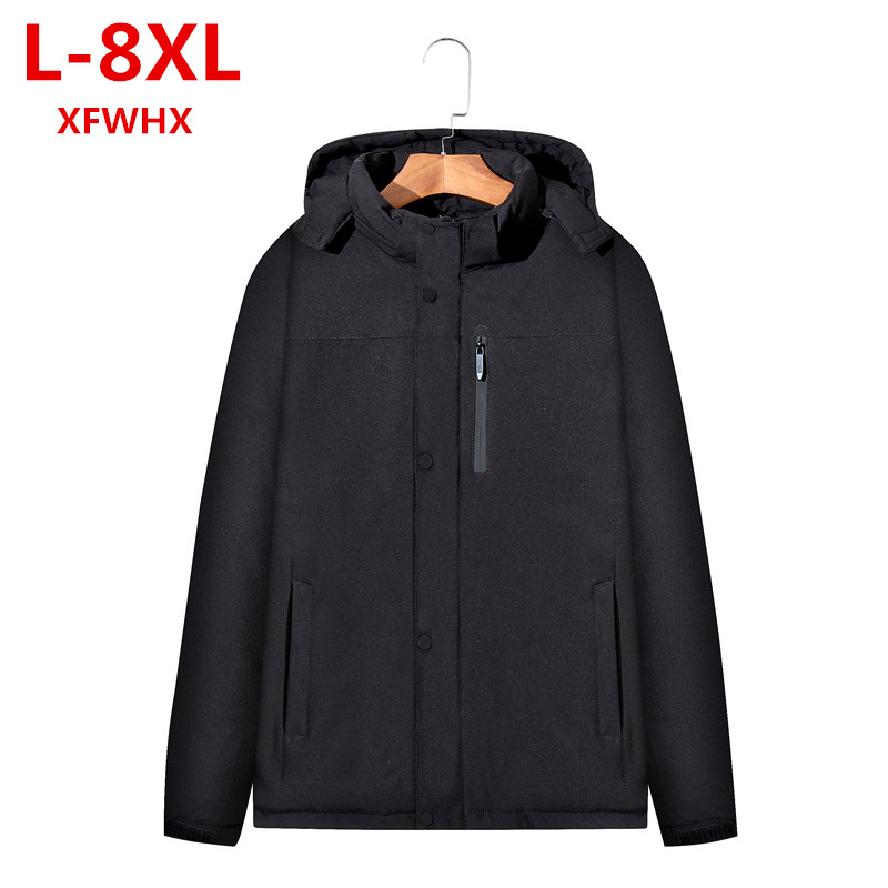 2017 XFWHX new plus size 8XL 7XL Men Winter Jacket Warm Male Coats Fashion Thick Thermal Men Parkas Casual Men Branded Clothing