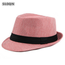 SILOQIN  Spring Summer Outdoor Trend Man Shade Fedora Hats Woman Youth Artist Painter Fashion Sunshade Casquette Couple Hat