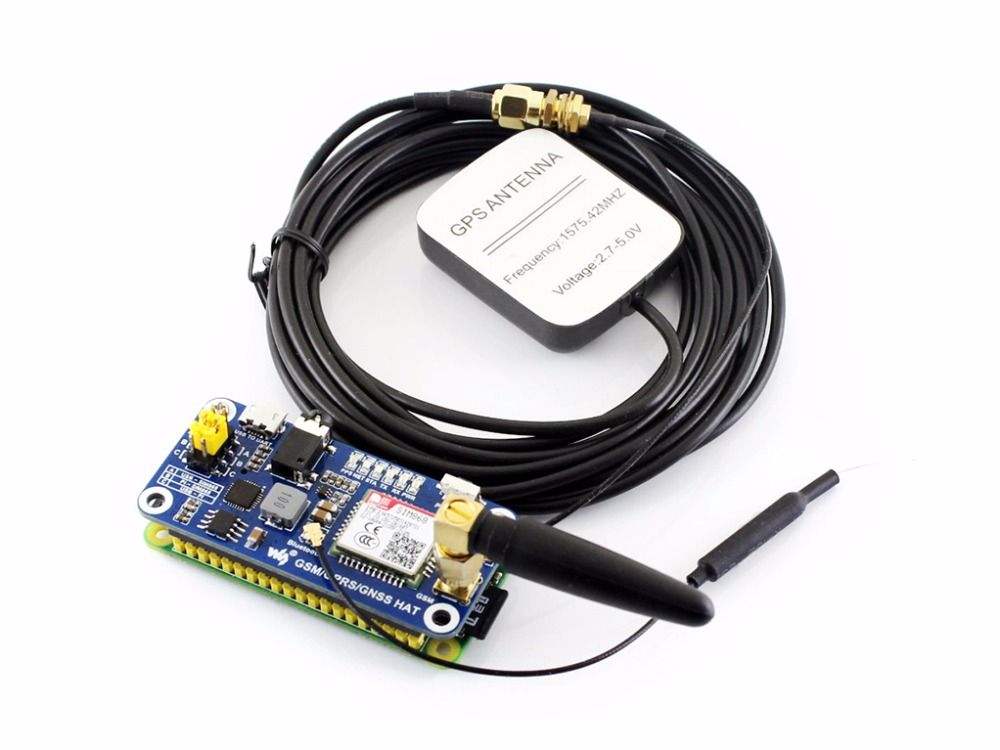 GSM GPRS GNSS Bluetooth HAT for Raspberry Pi Bluetooth 3 0 Supports SMS phone call GPRS