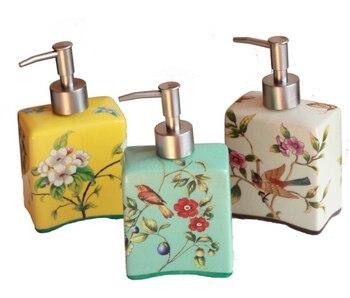 Amerikanischen Retro Große Kapazität Keramik Painted Hand Sanitizer Flasche Land Stil Bad Flüssigkeit Lotion Seife Dispenser LFB273