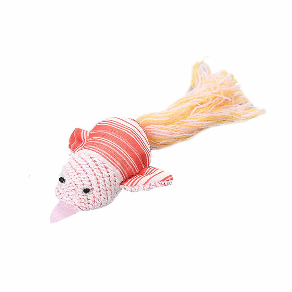 Brinquedo Do Gato do animal de estimação Pano Pássaro Cor de Rosa Com Cauda De Lã Animal de Estimação Suprimentos jogo do gato Engraçado Que Joga Brinquedos Para Gatos Gatinho