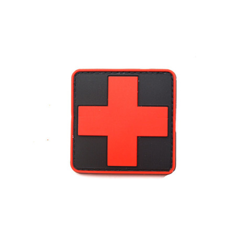 New 3d Pvc Rubber Medic Paramedic Red Cross Flag Of Switzerland Swiss Cross Patch Backpack Tactical Army Morale Badge Patches Music Memorabilia